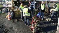 """Rassemblement de """"gilets jaunes"""" à Somain (nord), le 11 décembre 2018 [FRANCOIS LO PRESTI / AFP]"""