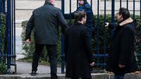 Willy Bardon, à gauche, accusé du viol et du meurtre d'Elodie Kulik en 2002, à son arrivée au palais de justice d'Amiens le 21 novembre 2019  [DENIS CHARLET / AFP]