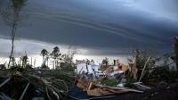 La ville de Tupelo après le passage d'une tornade le 29 avril 2014 aux Etats-Unis [Joe Raedle / Getty Images/AFP]