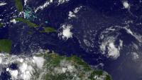 Image satellite fournie par la NASAen date du 24 août 2015 de la tempête Erila au dessus de l'océan atlantique [-- / NASA/AFP/Archives]