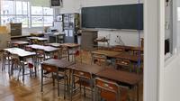 Une classe vide au Japon [Kazuhiro Nogi / AFP/Archives]