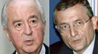 Montage de photos d'Edouard Balladur et de François Léotard, datant respectivement du 19 octobre 2007 et du 4 décembre 1996 [Jacques Brinon, Pascal Pavani / AFP/Archives]