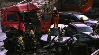 Un accident de la route en Chine le 26 novembre 2012 à Tai'an [ / AFP/Archives]