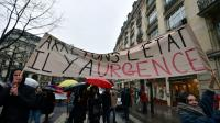 Rassemblement d'opposants à l'état d'urgence, le 30 janvier 2016 à Paris [ALAIN JOCARD / AFP]