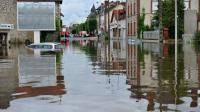 Une rue inondée de Montargis le 1er juin 2016 [GUILLAUME SOUVANT / AFP/Archives]