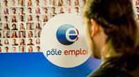 Photo prise le 28 mai 2015 d'un stand Pole emploi dans un salon sur l'emploi à Lille [Philippe Huguen / AFP/Archives]