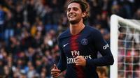 Le milieu du PSG Adrien Rabiot buteur contre Amiens au Parc des Princes, le 20 octobre 2018 [Anne-Christine POUJOULAT / AFP/Archives]
