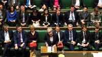 La Première ministre britannique Theresa May s'exprime devant la Chambre des communes, le 13 mars 2019 [MARK DUFFY / UK PARLIAMENT/AFP]