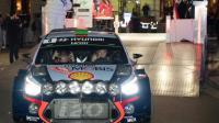 Le Néo-Zélandais Hayden Paddon au volant de sa Hyundai i20 au départ de la 85e édition du Rallye Monte-Carlo, le 19 janvier 2017 à Monaco  [Yann COATSALIOU / AFP]