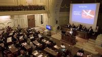 La présentation du coeur artificiel Carmat à l'Académie nationale de médecine de Paris le 11 mars 2014 [Joel Saget / AFP/Archives]