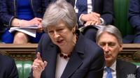 La Première ministre Theresa May s'exprime lors de la séance des questions au parlement à Londres le 27 mars 2019 [HO / PRU/AFP]