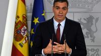 Le Premier ministre espagnol Pedro Sanchez lors d'un discours à Madrid le 24 octobre 2019 [PIERRE-PHILIPPE MARCOU / AFP/Archives]