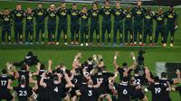 Sud-africains (en haut) et Néo-zélandais, qui se rencontreront une première fois en poules, pourraient bien se retrouver en finale du Mondial.