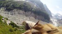 La mer de glace et le Montenvers vus par un aigle (capture d'écran Dailymotion)