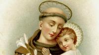 Saint-Antoine de Padoue, avec lenfant Jésus.
