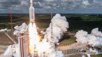 Lancement d'une fusée Ariane en Guyane