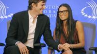 Demi Moore et l'acteur Ashton Kutcher le 23 septembre 2010 à New York.