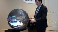 La société française Ateme a présenté le prototype d'un téléviseur sphérique au CES de Las Vegas.