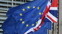 """Par Brexit """"désordonné"""", la BoE entend une sortie du Royaume-Uni de l'Union Européenne sans accord avec des conséquences importantes sur les échanges commerciaux ou les marchés financiers  [EMMANUEL DUNAND / AFP/Archives]"""
