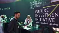 Le forum international sur l'investissement (Future Investment Initiative) de Ryad, le 22 octobre 2018 [FAYEZ NURELDINE / AFP]