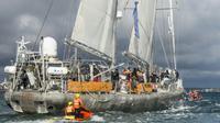 Le voilier scientifique Tara en octobre 2018 à Lorient [SEBASTIEN SALOM GOMIS / AFP/Archives]