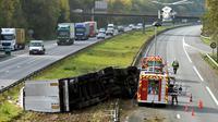 Le nombre de morts sur les routes de France métropolitaine a de nouveau fortement baissé (-9,3%) en juin avec 294 tués, soit 30 de moins que lors du même mois l'an dernier [FRANCOIS LO PRESTI / AFP/Archives]