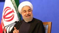 Le président iranien modéré Hassan Rohani donne une conférence de presse, le 6 mars 2016 à Téhéran [ATTA KENARE / AFP]