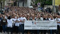 Marche blanche en hommage à Jean-Baptiste Salvaing et Jessica Schneider, le 16 juin 2016 à Mantes-la-Jolie [DOMINIQUE FAGET                      / AFP]