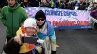 Départ d'une marche pour le climat de trois jours, à Landquart, en Suisse, le 19 janvier 2020, en prélude au Forum économique de Davos [FABRICE COFFRINI / AFP]