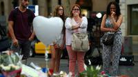 Hommage aux victimes de l'attentat de Barcelone, sur l'avenue de las Ramblas, le 19 août 2017 [LLUIS GENE / AFP/Archives]