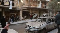Une rue de la ville syrienne d'Alep, le 14 février 2016 [GEORGE OURFALIAN / AFP]