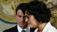 Le Premier ministre Manuel Valls (g) et la ministre du Travail Myriam El Khomri, le 29 juin 2016 à Matignon [DOMINIQUE FAGET / AFP]