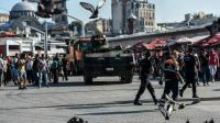 Un char de l'armée turque le 16 juillet 2016 à Istanbul [BULENT KILIC / AFP]