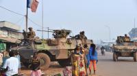 Des soldats français de la force Sangaris patrouillent à Bangui, en Centrafrique, le 14 février 2016 [ISSOUF SANOGO / AFP/Archives]