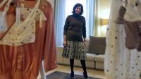 """Assya Hiridjee, fondatrice de la marque de lingerie """"Monette Paris"""", prise en photo à Paris, le 14 décembre 2012 [Lionel Bonaventure / AFP/Archives]"""