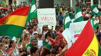 Marche de Boliviens contre la réélection d'Evo Morales, à Santa Cruz le 27 octobre 2019 [DANIEL WALKER / AFP]