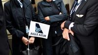 Des employés de la compagnie aérienne Aigle Azur manifestent devant le ministère des Transports, le 9 septembre 2019 à Paris [STEPHANE DE SAKUTIN / AFP/Archives]