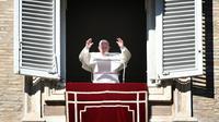 Le pape François lors de la prière de l'Angelus au Vatican le 1er janvier 2019 [Alberto PIZZOLI / AFP]