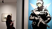 Une exposition de Banksy au Palazzo Cipolla, à Rome, le 23 mai 2016.