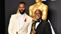 A droite, Barry Jenkins dont le film «Moonlight» a remporté l'Oscar 2017 du meilleur film.