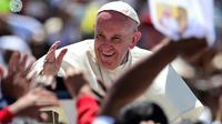 Le pape François, le 15 février 2016 à San Cristobal de Las Casas, au Mexique [RONALDO SCHEMIDT / AFP]