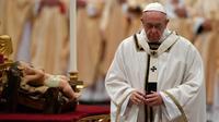 Le pape François lors de son homélie de Noël, le 24 décembre 2017 au Vatican   [Andreas SOLARO / AFP]