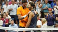 Juan Martin Del Potro s'est qualifié pour la finale de l'US Open après l'abandon de Rafael Nadal, le 7 septembre à New York [TIMOTHY A. CLARY / AFP]