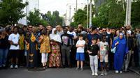 """Marche blanche dans le quartier du Breil à Nantes le 5 juillet 2018 pour réclamer """"vérité"""" et """"justice pour Abou"""", victime mardi du tir d'un policier placé en garde à vue [Damien MEYER / AFP]"""