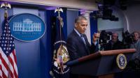 Barack Obama lors d'une conférence de presse à la Maison Blanche, le 16 décembre 2016 à Washington [ZACH GIBSON / AFP/Archives]