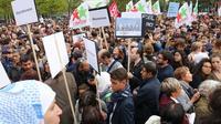 Des personnes se sont rassemblées samedi 5 septembre 2015 à Paris en solidarité avec les migrants  [GUILLEMETTE VILLEMIN / AFP]