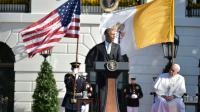 Barack Obama et le pape François, à la Maison Blanche, le 23 septembre 2015 [VINCENZO PINTO / AFP]