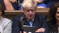 Le Premier ministre britannique Boris Johnson sur une image tirée d'une vidéo fournie par le Parlement, le 9 septembre 2019 à Londres [- / PRU/AFP]