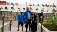 Le président du CIO Thomas Bach lors de son arrivée au Village olympique à Rio de Janeiro, le 28 juillet 2016 [IVAN ALVARADO / POOL/AFP]