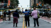 Une policière sur la 23e rue à New York où a eu lieu l'explosion qui a blessé une trentaine de personnes, le 17 septembre 2016  [KENA BETANCUR / AFP/Archives]